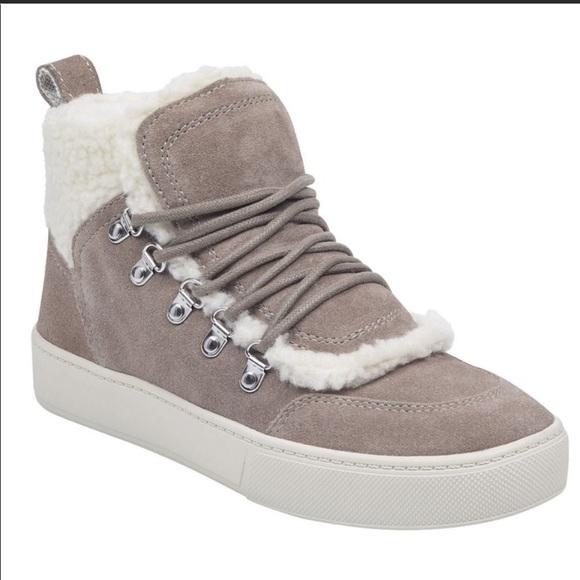 Marc Fisher Ltd Sana Sneaker Tan Suede